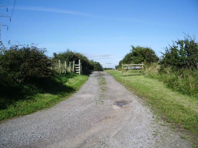 The road to Hallcat Farm