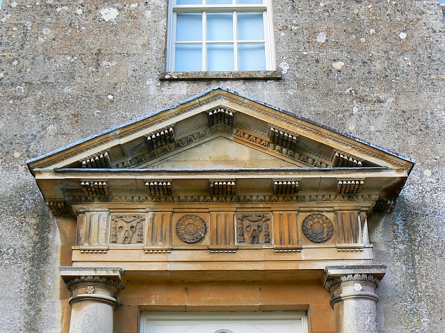 Pediment above main door, Lydiard Park