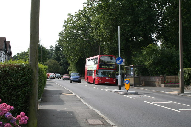 Taunton Lane bus stop, Coulsdon Road, Old Coulsdon