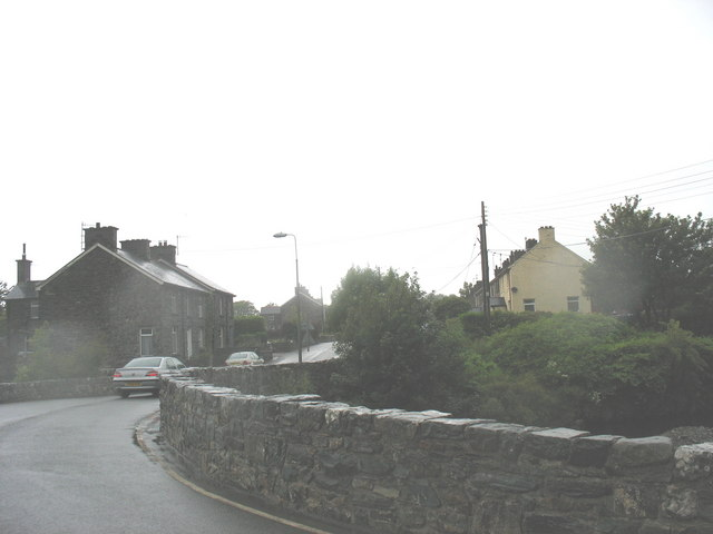 Pont Trawsfynydd on a rainy day