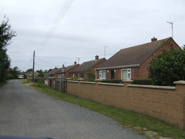 Bungalows on Rookery Lane, Clenchwarton
