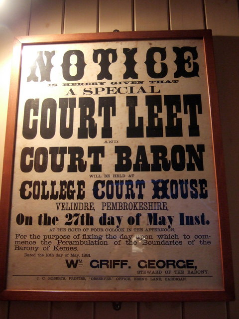 1881 Court House meeting poster