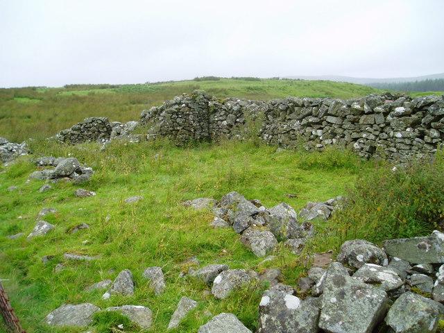 Ruins of Loch House, near Lochinvar.