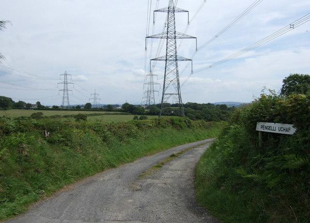 Lane to Pengelli Uchaf Farm