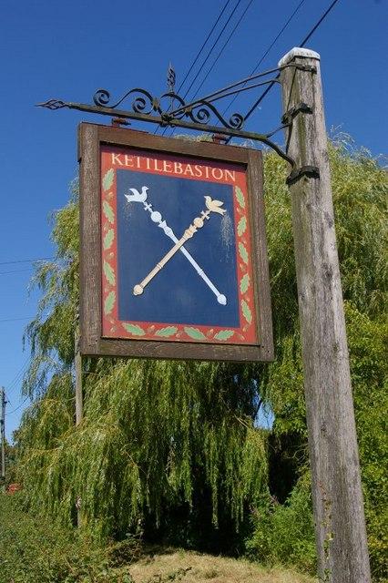 Kettlebaston village sign