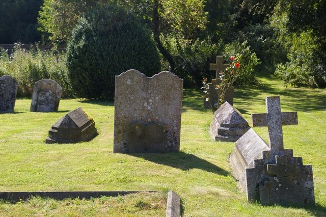Graves in the churchyard of St Mary the Virgin
