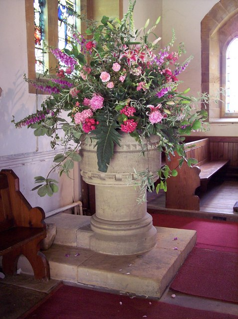 The Church of St Wilfrid, Kirby Knowle - Font