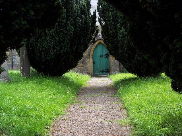 All Saints Church, Nether Silton - Path