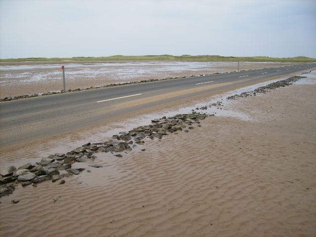 Causeway across Holy Island Sands