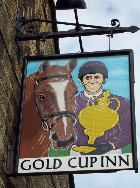 Sign for the Gold Cup Inn