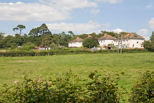 Houses on Widley Walk near Purbrook Heath Farm
