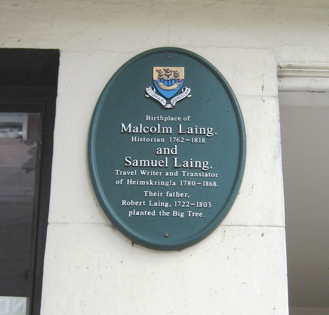 Plaque of Robert Laing