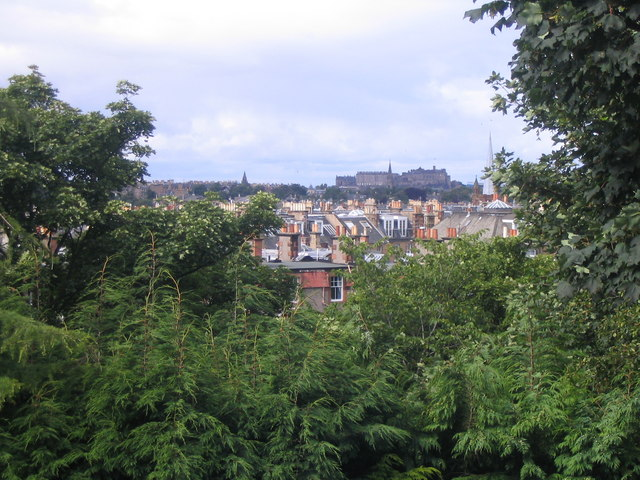 Edinburgh rooftops and chimneys