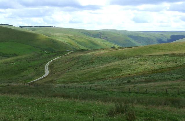 Elenydd Landscape near Blaendoethie, Ceredigion