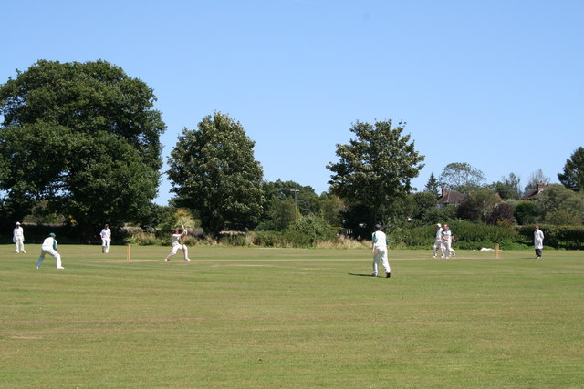 Cricket field behind the Red Lion, Old Road, Betchworth, Surrey