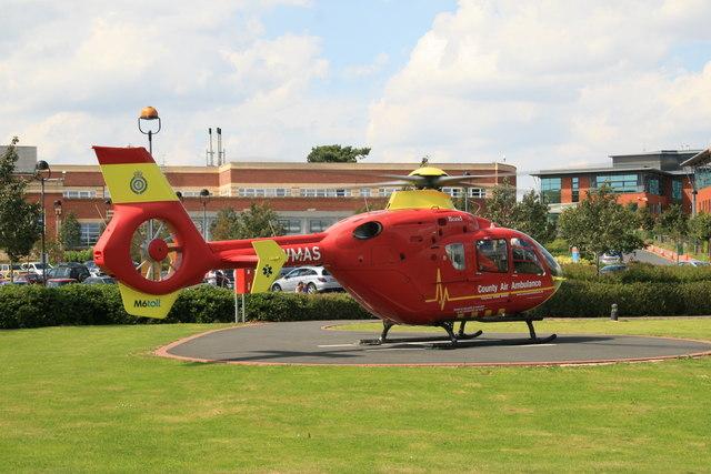 County Air Ambulance at Worcestershire Royal Hospital