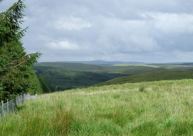 Elenydd Landscape, from near Esgair Llethr, Ceredigion
