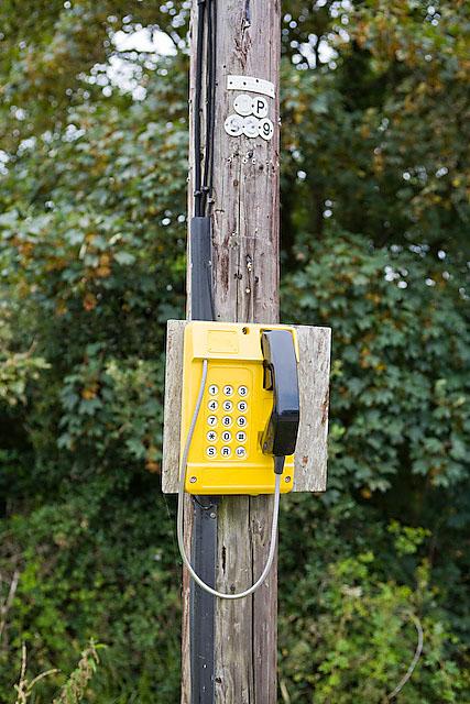 Emergency telephone at Calshot