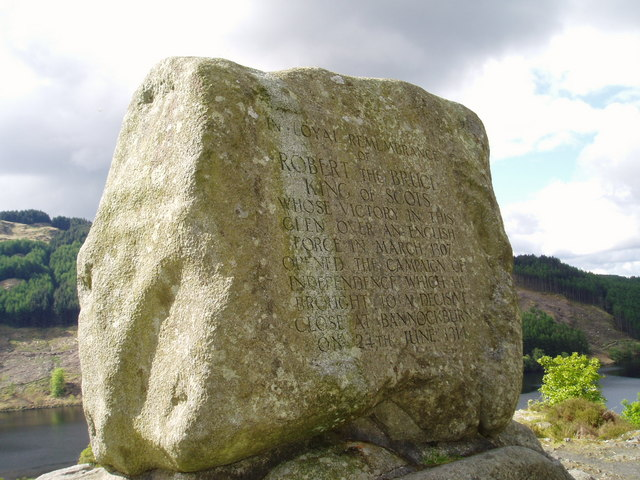 Commemorative stone to Robert the Bruce.