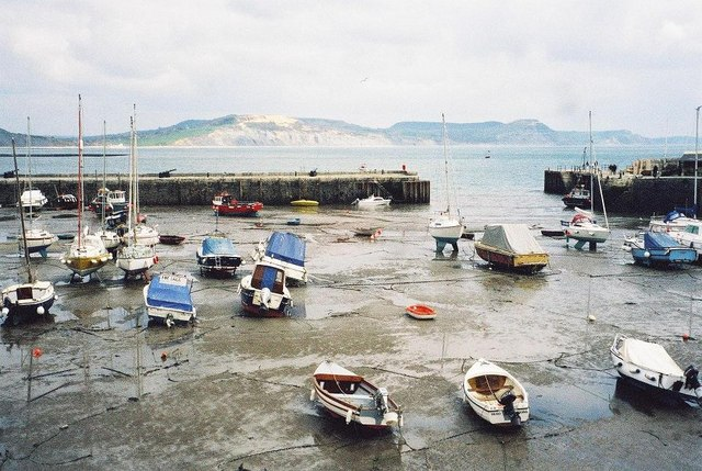 Lyme Regis: looking out of the harbour
