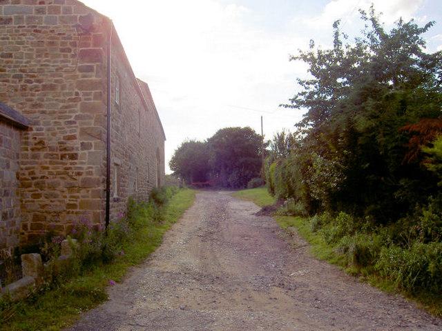 Start of Priestcroft lane.