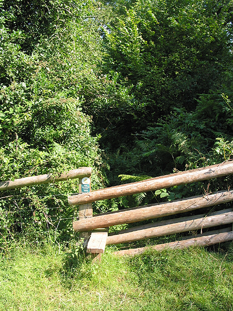 Stile to overgrown footpath