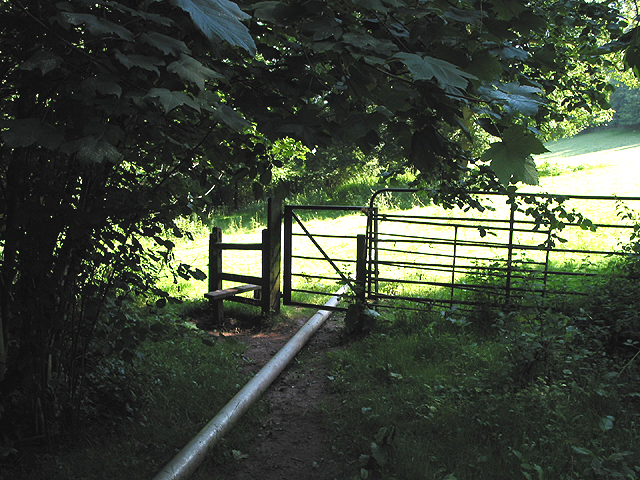 Stile with pipeline