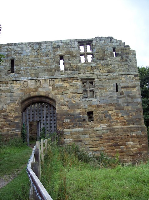 Entrance to Whorlton Castle