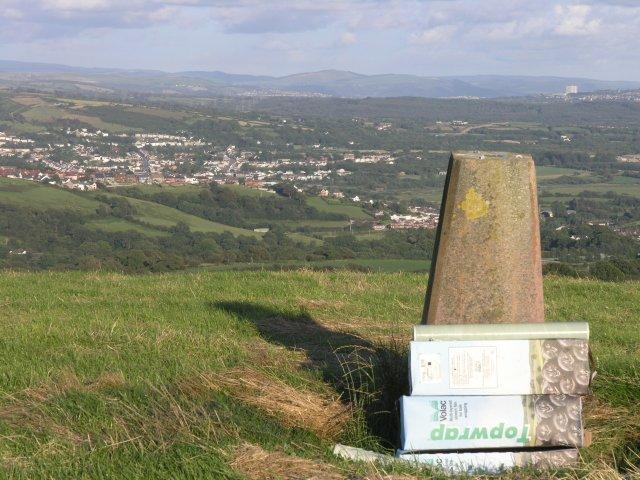 Trig point above Pontarddulais