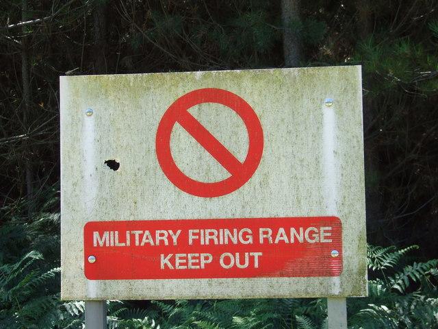 Military Firing Range Sign