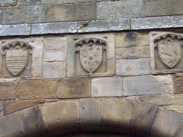 Crests on Whorlton Castle