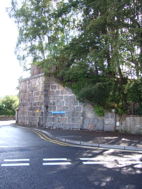 Deeside railway bridge abutment