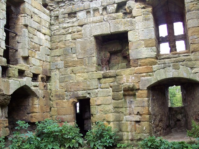 Inside Whorlton Castle