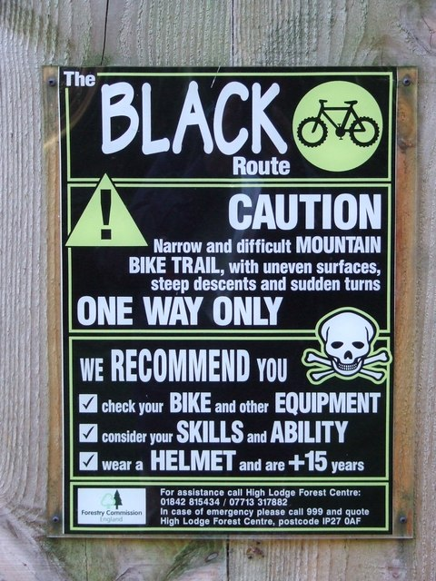 The Black Route Info Board