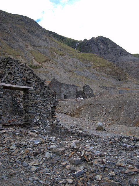 Cwmystwyth lead mine buildings
