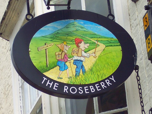 Sign for the Roseberry
