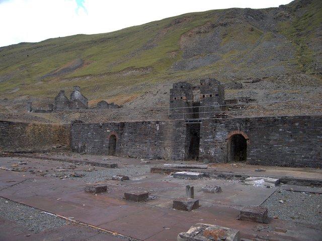 Main building of Cwmystwyth lead mine