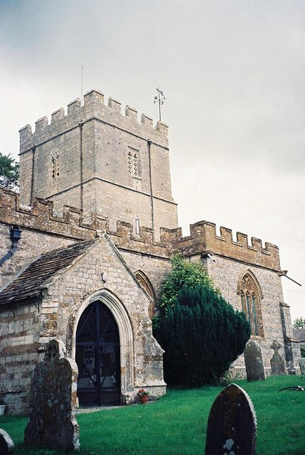 Maiden Newton parish church: tower and porch