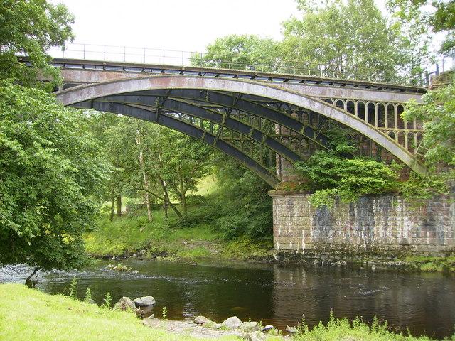 Former railway bridge over the River Rawthey near Sedbergh