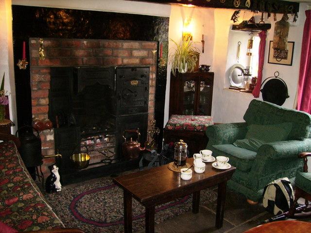 The lounge inside the Cross Keys Temperance Inn at Cautley