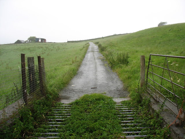 Cattle Grid at the entrance to Bronasgellog