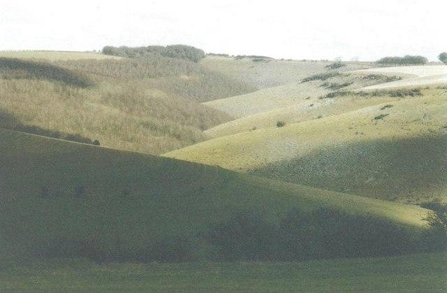 Zigzagging valley
