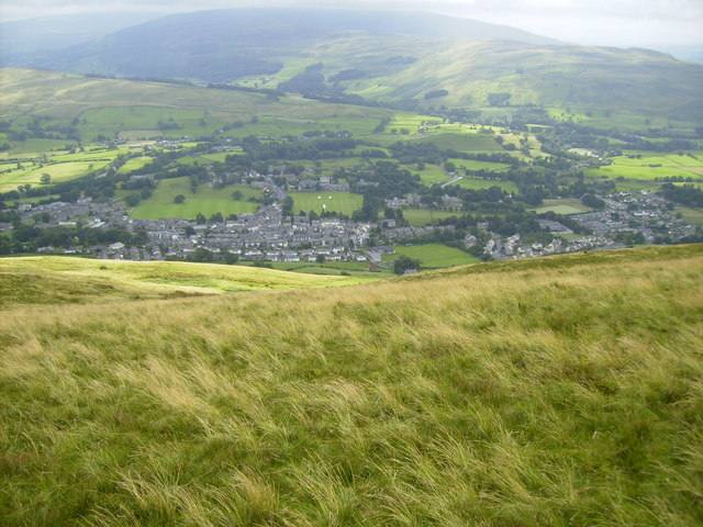 Sedbergh Town from Winder