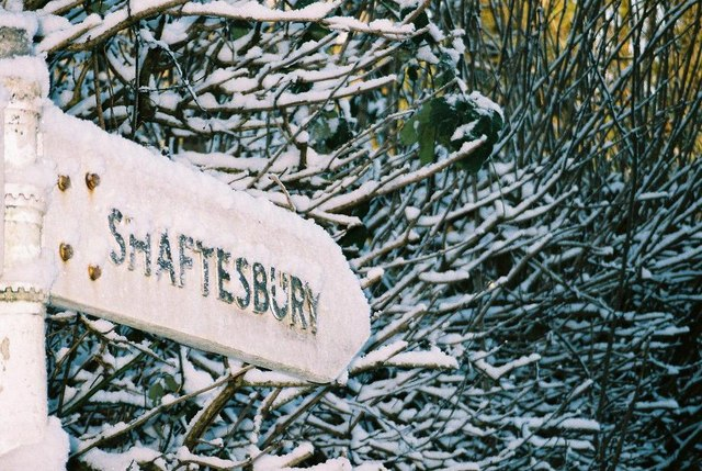 Shaftesbury covered in snow