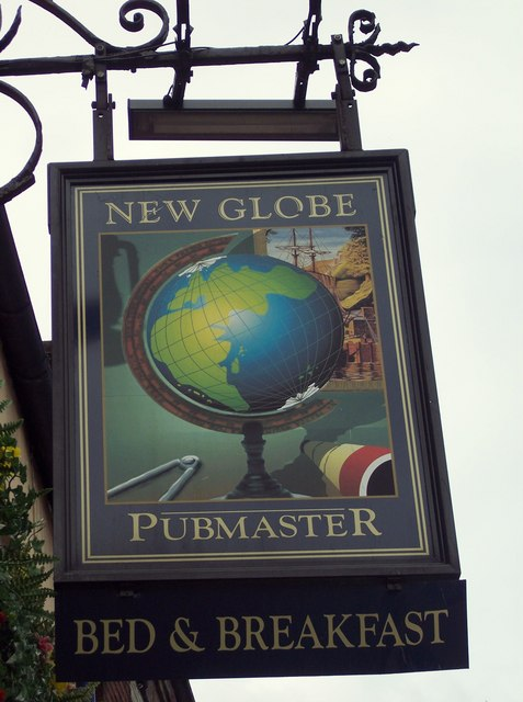 Sign for the New Globe Inn