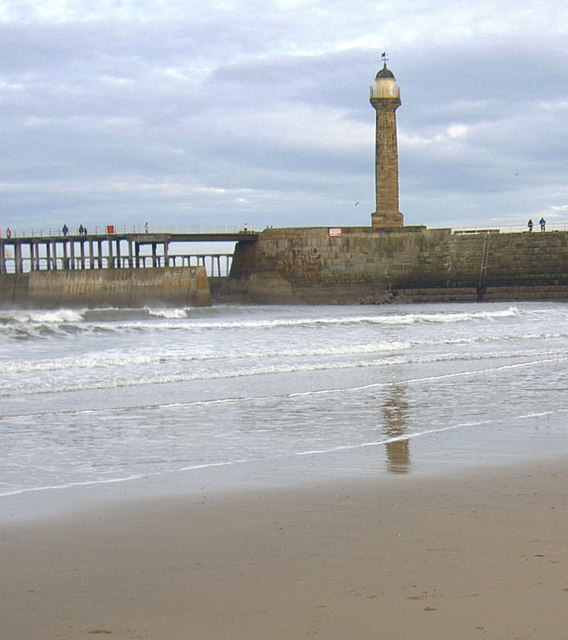 Whitby West lighthouse.