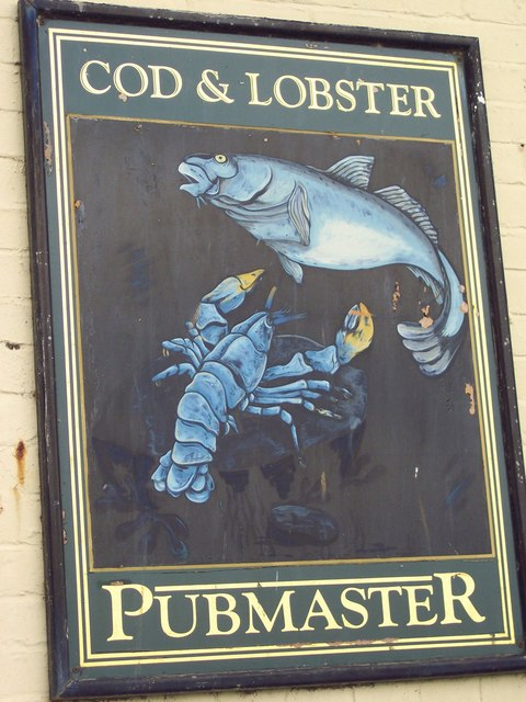 Sign for the Cod and Lobster