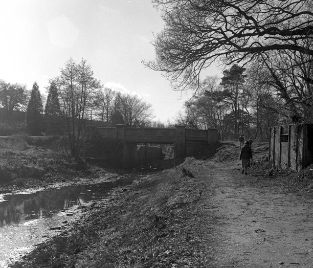 Pirbright Bridge and Deepcut Bottom Lock No 15, Basingstoke Canal
