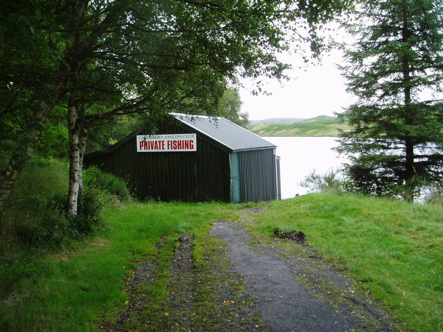 Boathouse on Kendoon Loch.