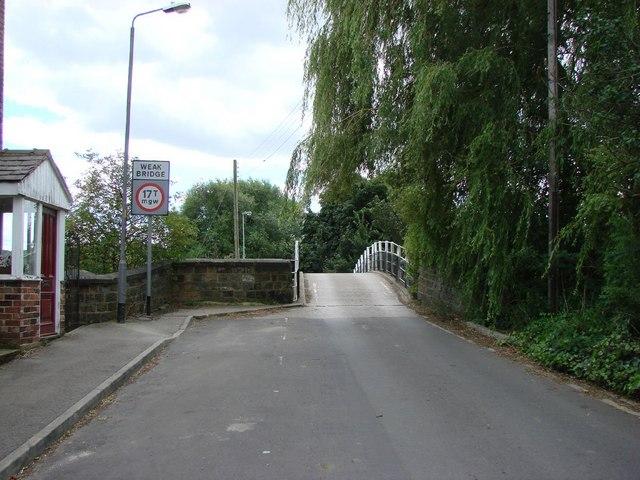 Road Bridge over the Calder & Hebble Navigation, near the Navigation Pub.